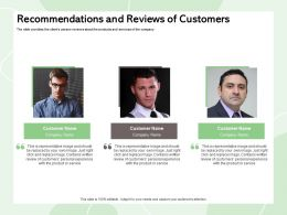 Recommendations And Reviews Of Customers Click Replace Ppt Powerpoint Presentation Summary Grid