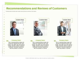 Recommendations And Reviews Of Customers Contains Ppt Powerpoint Presentation Gallery Summary