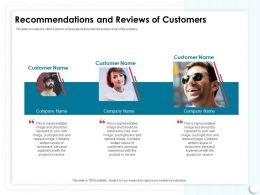 Recommendations And Reviews Of Customers Just Right Ppt Powerpoint Presentation Samples