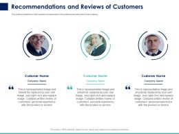 Recommendations And Reviews Of Customers Ppt Powerpoint Presentation Ideas Smartart