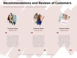 Recommendations And Reviews Of Customers Replaced Ppt Powerpoint Presentation Icon Show