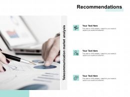 Recommendations Business Marketing Ppt Powerpoint Presentation Icon Rules