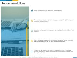 Recommendations Digital Business Models Ppt Powerpoint Presentation Layouts Grid