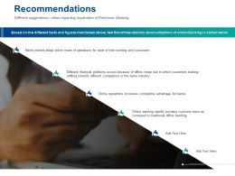 Recommendations Electronic Banking Ppt Powerpoint Presentation Styles Information