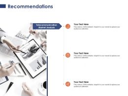 Recommendations Market Analysis Business Ppt Powerpoint Presentation Show Visuals