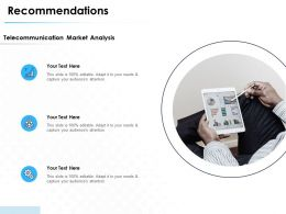 Recommendations Market Analysis Ppt Powerpoint Presentation Outline
