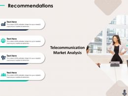 Recommendations Need Telecommunication Market Analysis Powerpoint Presentation Sample