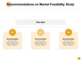 Recommendations On Market Feasibility Study D126 Ppt Powerpoint Presentation Ideas Examples