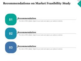 Recommendations On Market Feasibility Study Ppt Inspiration Graphics Example