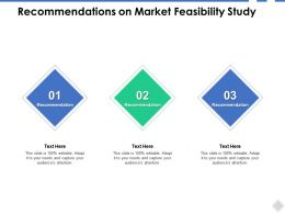 Recommendations On Market Feasibility Study Ppt Powerpoint Presentation Ideas