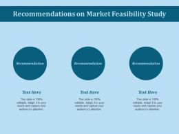Recommendations On Market Feasibility Study Ppt Slides Samples