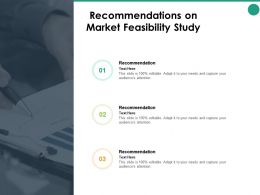 Recommendations On Market Feasibility Study Strategy Ppt Powerpoint Presentation Pictures