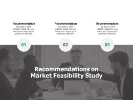 Recommendations On Market Feasibility Study Teamwork Ppt Powerpoint Slides