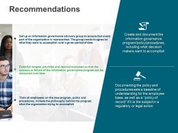 Recommendations Policy M3021 Ppt Powerpoint Presentation File Show