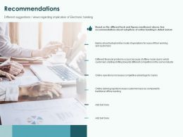 Recommendations Ppt Powerpoint Presentation Infographics Graphics Design