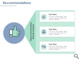 Recommendations Telecommunication Ppt Powerpoint Presentation Picture