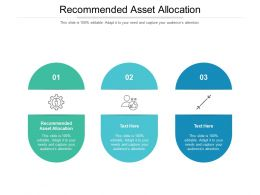 Recommended Asset Allocation Ppt Powerpoint Presentation File Inspiration Cpb