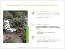 Recommended Plan For Lawn And Landscape Services Powerpoint Presentation Gallery