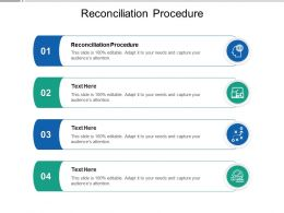 Reconciliation Procedure Ppt Powerpoint Presentation Infographics Graphics Download Cpb
