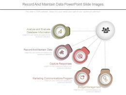 Record And Maintain Data Powerpoint Slide Images