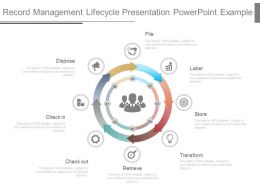 Record Management Lifecycle Presentation Powerpoint Example