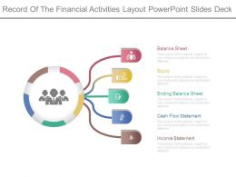 Record Of The Financial Activities Layout Powerpoint Slides Deck