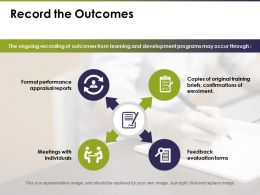 Record The Outcomes Feedback With Evaluations Forms Ppt Professional Grid