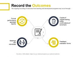 Record The Outcomes Formal Performance Appraisal Reports