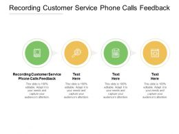 Recording Customer Service Phone Calls Feedback Ppt Powerpoint Presentation File Background Images Cpb