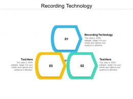 Recording Technology Ppt Powerpoint Presentation Infographic Template Infographics Cpb