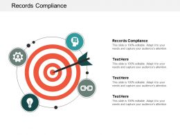 Records Compliance Ppt Powerpoint Presentation Portfolio Elements Cpb