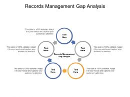 Records Management Gap Analysis Ppt Powerpoint Presentation Professional Background Image Cpb