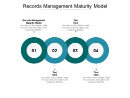 Records Management Maturity Model Ppt Powerpoint Presentation Infographics Outfit Cpb