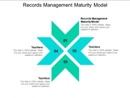 Records Management Maturity Model Ppt Powerpoint Presentation Layouts Background Cpb