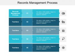 Records Management Process Ppt Powerpoint Presentation Professional Tips Cpb