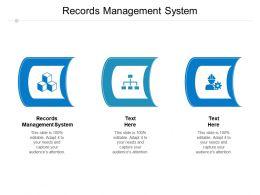 Records Management System Ppt Powerpoint Presentation Slides Graphics Tutorials Cpb