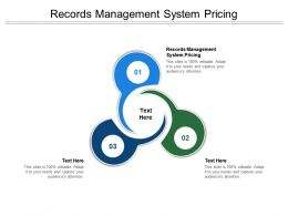 Records Management System Pricing Ppt Powerpoint Presentation Show Infographics Cpb
