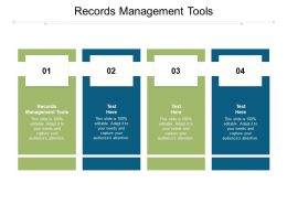 Records Management Tools Ppt Powerpoint Presentation Clipart Cpb