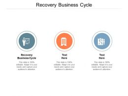Recovery Business Cycle Ppt Powerpoint Presentation Slides Summary Cpb