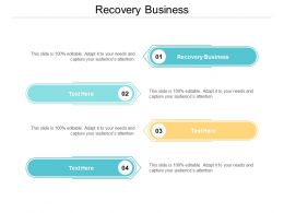 Recovery Business Ppt Powerpoint Presentation Summary Guide Cpb
