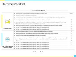 Recovery Checklist Economic Ppt Powerpoint Presentation File Template