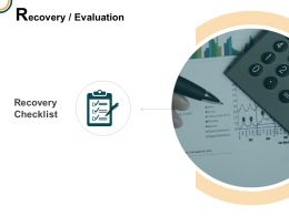 Recovery Evaluation Checklist Agenda Ppt Powerpoint Presentation Icon Picture