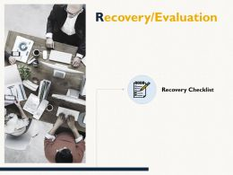 Recovery Evaluation Checklist Marketing E83 Ppt Powerpoint Presentation Inspiration Ideas