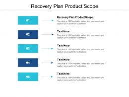 Recovery Plan Product Scope Ppt Powerpoint Presentation Icon Professional Cpb