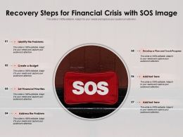 Recovery Steps For Financial Crisis With SOS Image