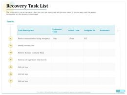 Recovery Task List Vital Records Ppt Powerpoint Presentation Inspiration