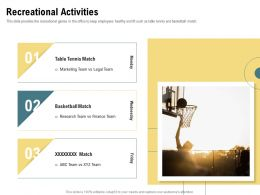 Recreational Activities Basketball Tennis Match Ppt Powerpoint Presentation Icon Ideas