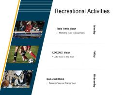 Recreational Activities M3115 Ppt Powerpoint Presentation File Graphic Tips