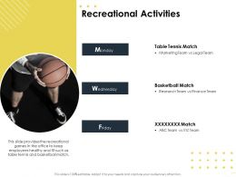 Recreational Activities Match M1648 Ppt Powerpoint Presentation Layouts Pictures