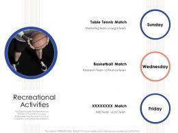 Recreational Activities Wednesday Powerpoint Presentation Maker